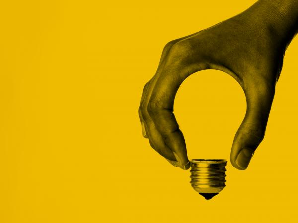 Hand forming light bulb