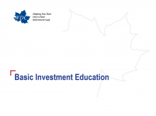 Basic Investment Education title slide