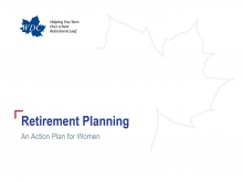 Retirement Planning: An Action Plan for Women title slide