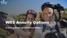 WRS Annuity Options title slide.
