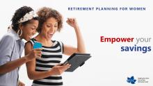 Retirement Planning for Women title slide.
