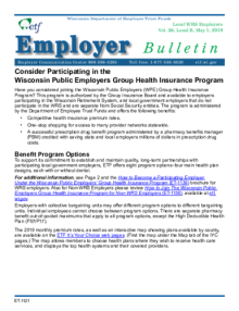 Employer Bulletin: Consider Participating in the Wisconsin ...