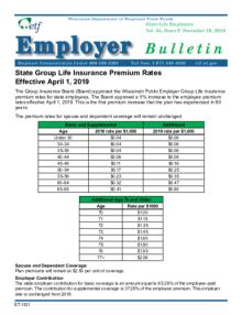 Employer Bulletin: State Group Life Insurance Premium ...