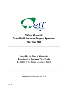 2020 State of Wisconsin Group Health Insurance Program ...