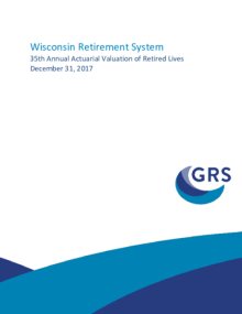 WRS Annual Actuarial Valuation of Retired Lives 2017