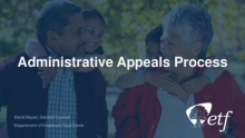 Board Member Orientation: Administrative Appeals Process